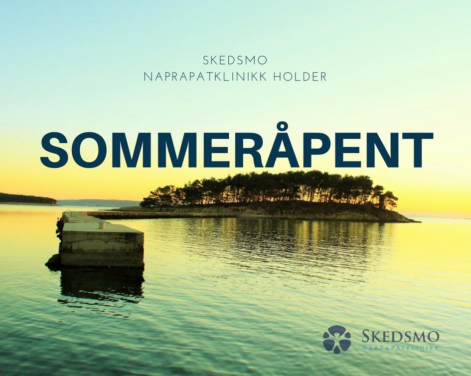 Skedsmo Naprapatklinikk har åpent store deler av sommeren.